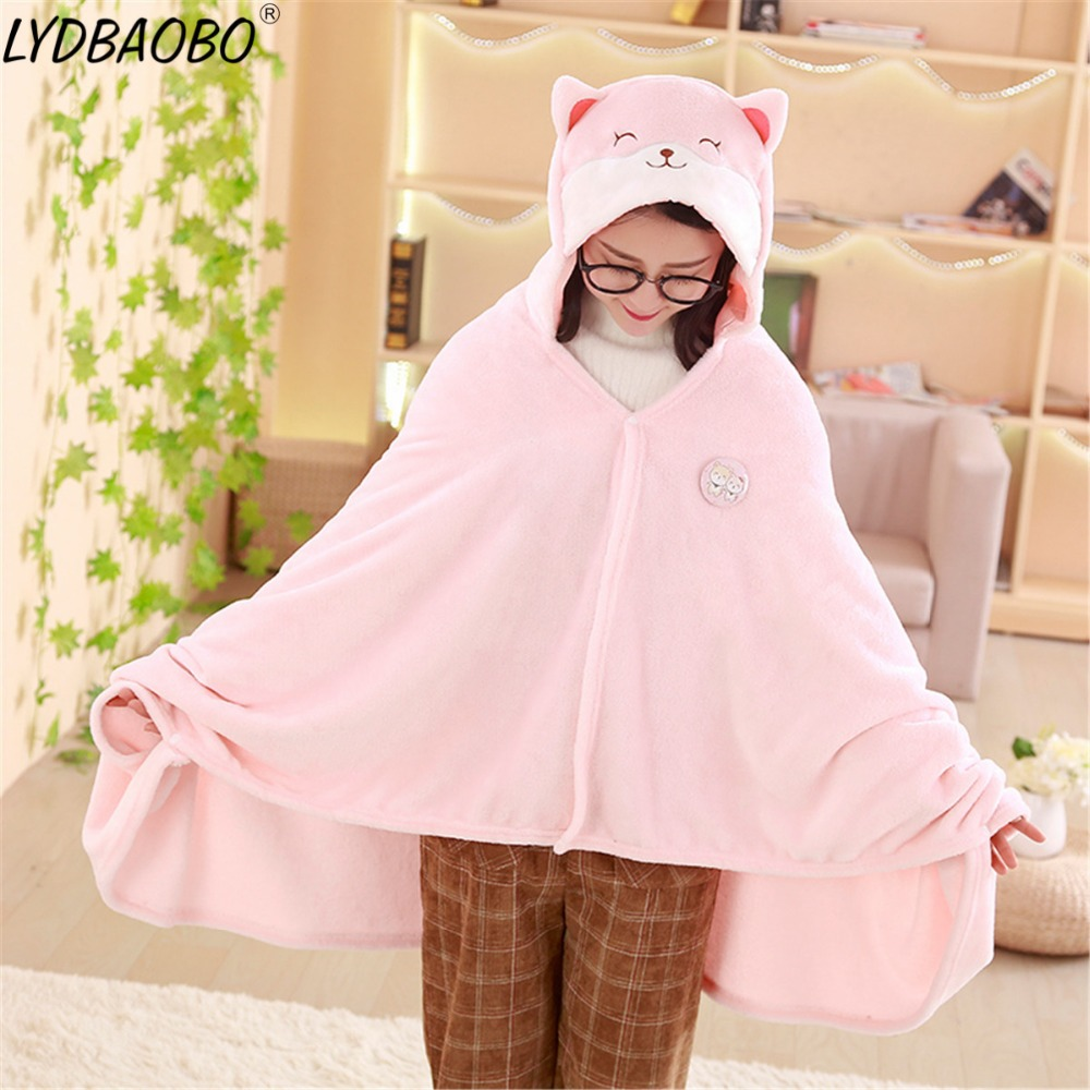 2019 New Style 1pc 1*1.7m High Quality Cute Corgi Husky Dog Plush Cloak Soft Cartoon Cloak Anime Soft Hoodie Pajamas Animal Blanket Warm Cloak Orders Are Welcome.