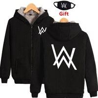 XXS To 4XL Plus Size Winter Warm Alan Walker DJ Thick Fleece Hoodies Sweatshirt Men Women