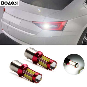 2x Xenon white 1156 High Power LED Backup Reverse High Stop Light For Volkswagen BMW 3/5 SERIES E30 E36 E46 E34 Skoda volvo image