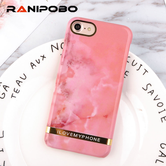best service 0791a 9c7a8 US $3.86 |Luxury Rose Gold Marble Print Phone Case For iphone 6 Case  Fashion Letter Hard Plastic Cover Cases For iphone 6 6s PLus Coque-in ...