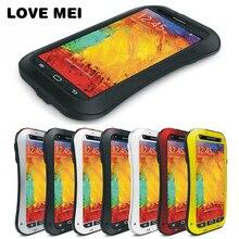 LOVEMEI Sporcizia resistente Anti bussare Cassa di Alluminio Del Metallo con Gorilla Glass per Samsung Galaxy Note 3 N9000 Pesante duty Protezione