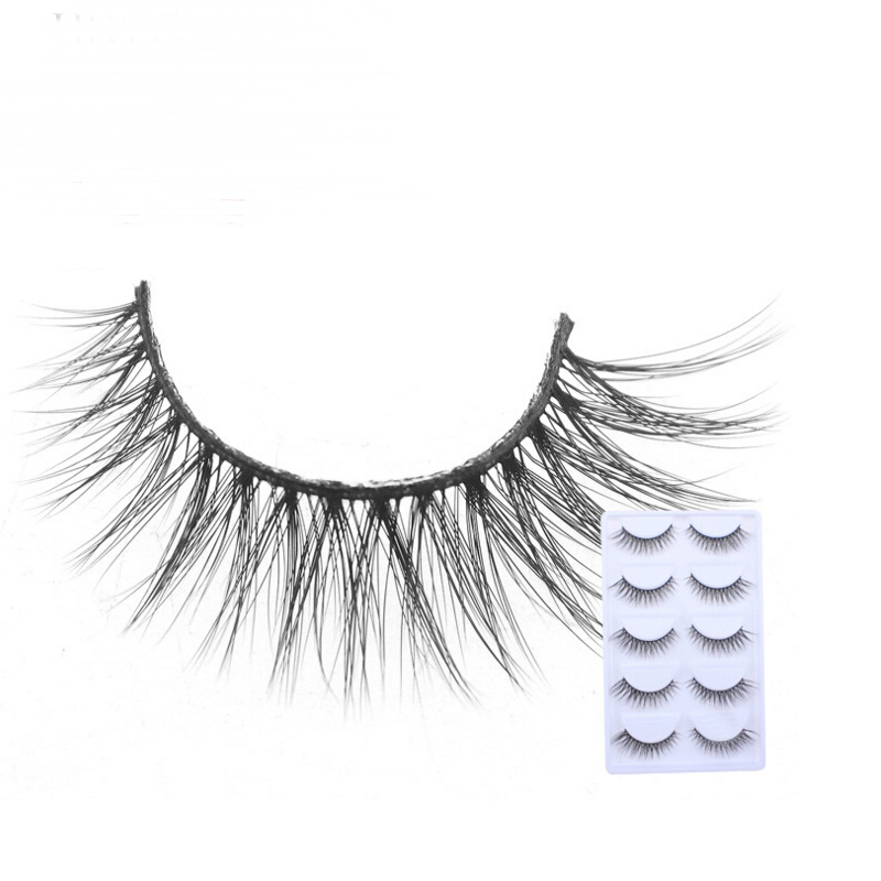 2018 NEW 5 Pairs mink eyelashes natural long 3d mink lashes hand made false eyelashes 1 box makeup eyelash extension E16