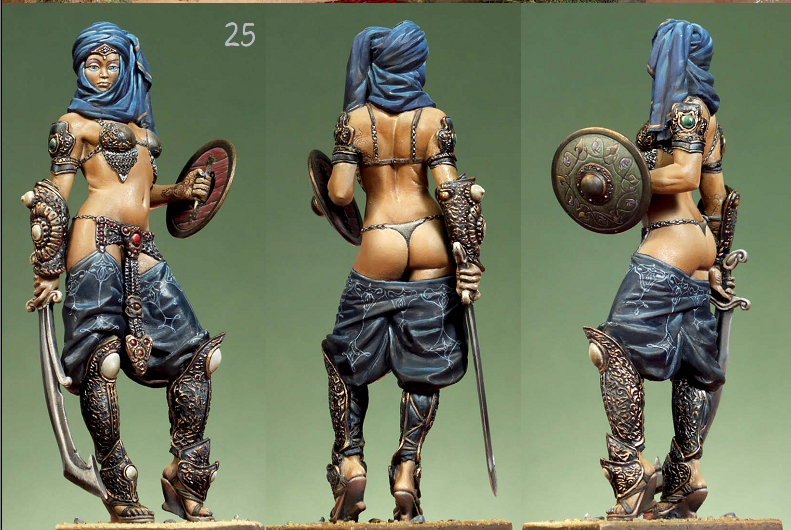 75mm,1/24 Resin Figures Ancient Female Soldiers Model Kits G213D