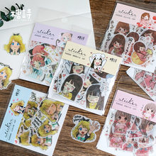40 Pcs/Pack Kawaii Anime Girls Mini Paper Sticker Decoration Stickers Diy Ablum Diary Scrapbooking Label Sticker(China)