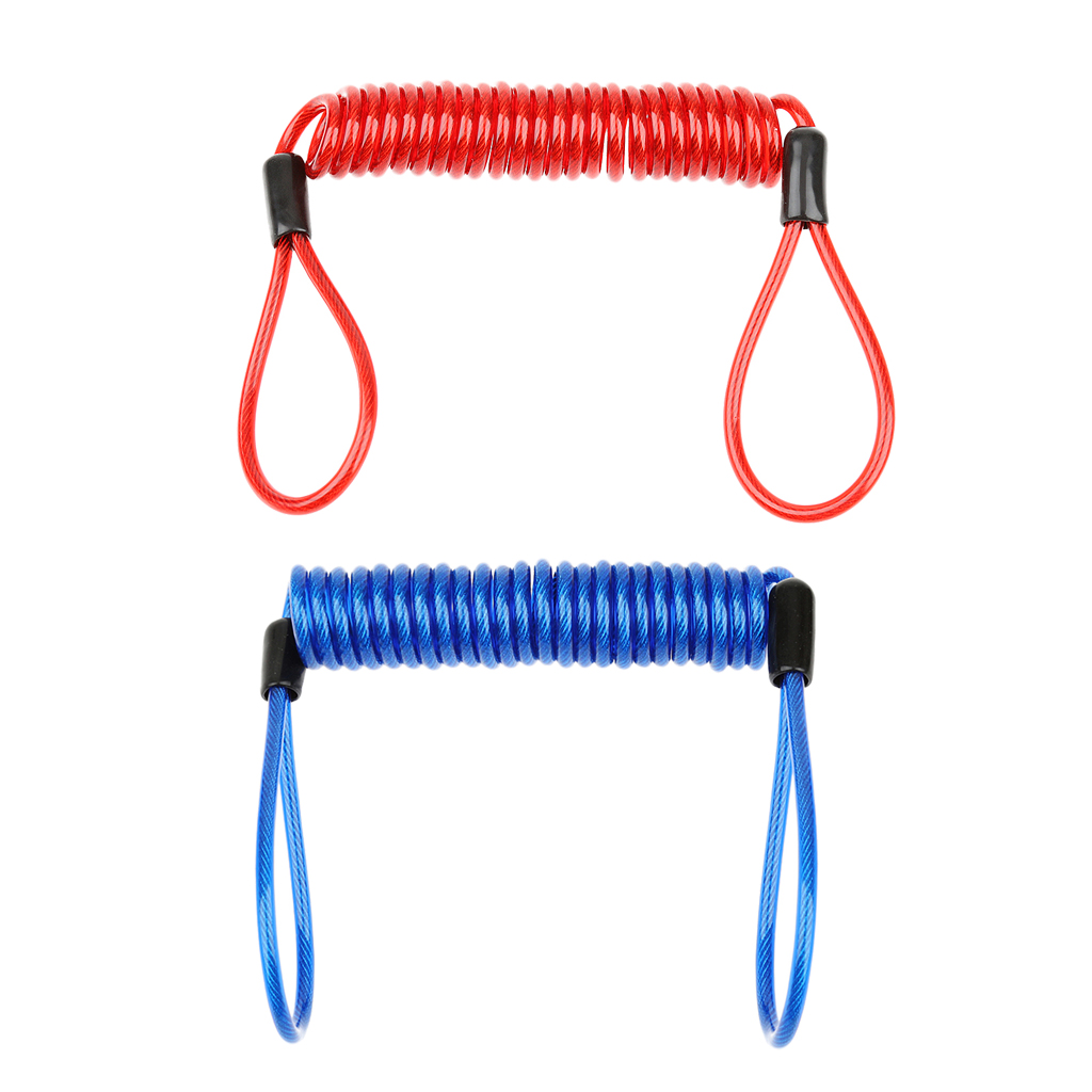 2 Pack Heavy Duty Scuba Diving Lanyard Spring Coil Rope Dive Accessories