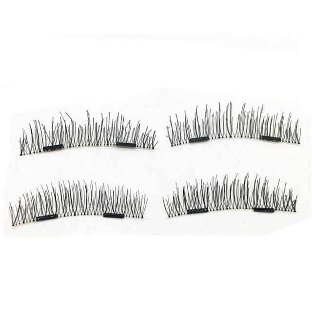 Women Eye Makeup 1 Pair 3d Magnetic False Eyelashes Full Strip