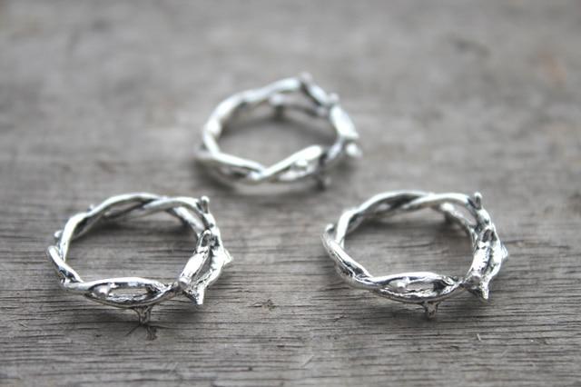 10pcs crown of thorns charmsthorn ringantique silver twig ring 10pcs crown of thorns charmsthorn ringantique silver twig ring aloadofball Image collections