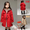 2016 Latest Baby Toddler Girls Trench Coat Kids Winter Warm Jacket Windbreaker Outerwear