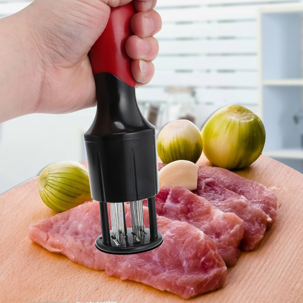 Kitchen Injection Type Steak Needles Meat Tenderizer Needle With Stainless Steel Pine Needle Kitchen Tools meat tenderizer with 56 stainless steel blades kitchen tool