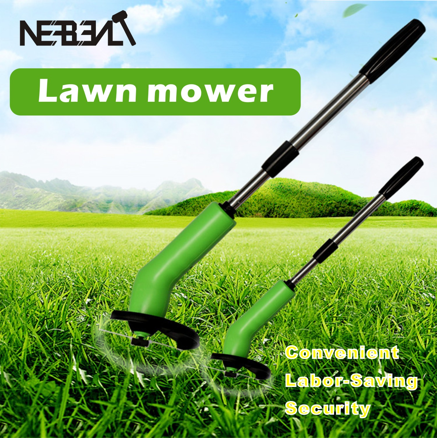 Handheld Portable Grass Trimmer Cordless Ties Kits Grass Mower Powerfully Courtyard Mowing Pruning Tool Retractable Poles