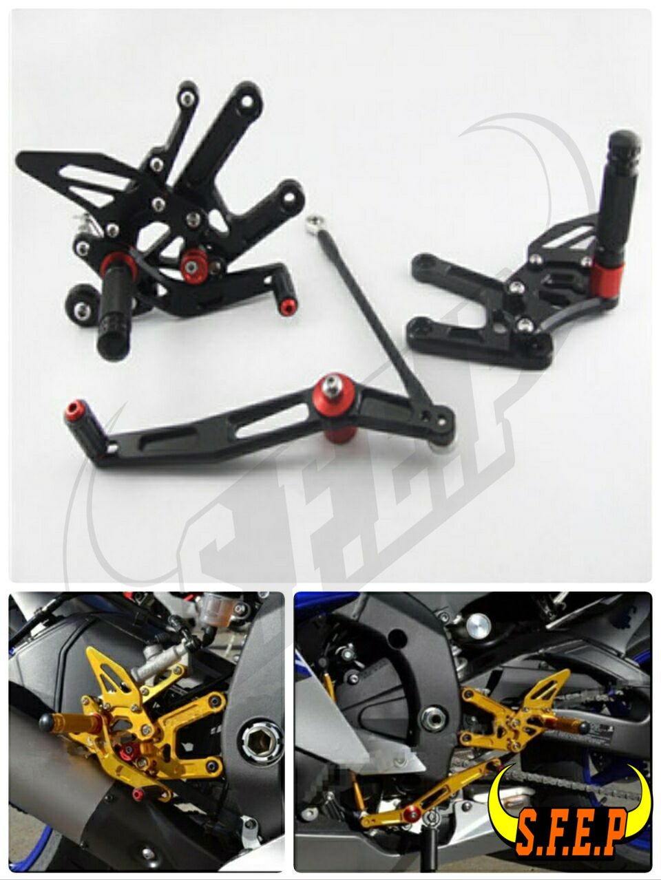 CNC Adjustable Rearsets Rear Sets foot pegs For Yamaha YZF-R6 2006-2016 free shipping motorcycle parts silver cnc rearsets foot pegs rear set for yamaha yzf r6 2006 2010 2007 2008 motorcycle foot pegs