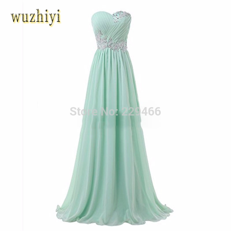 Wuzhiyi Strapless Long Evening Dresses Under 100 New Arrival