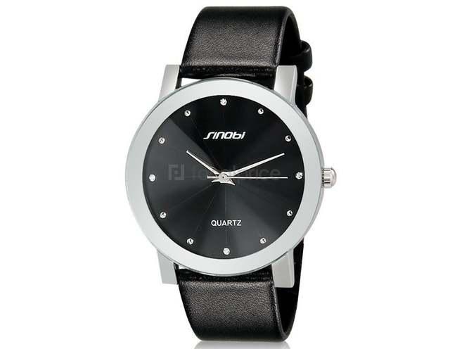 fcb2551e6be Nova marca de luxo SINOBI 981 Diamante Casuais Masculino feminino Elegante  Relógio Homem mulher Senhora Relógios