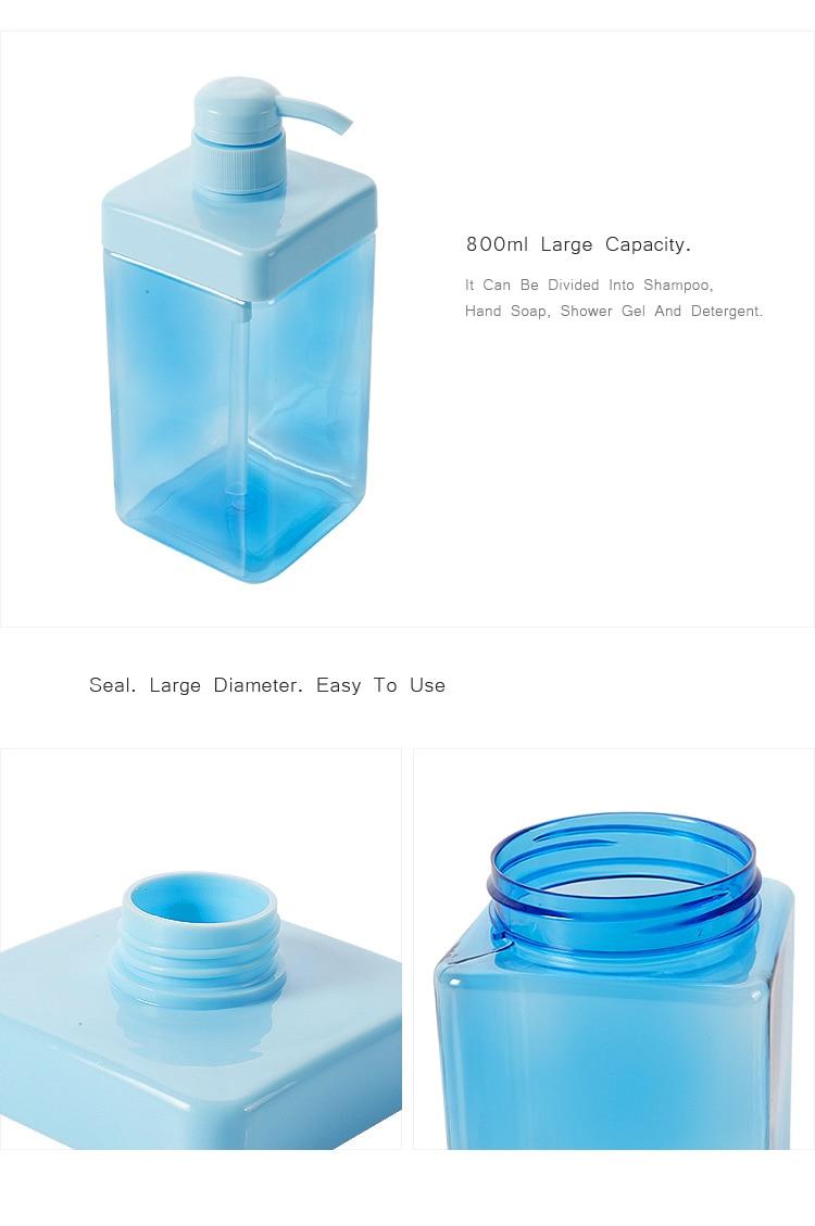 OYOURLIFE 800ml High Capacity Liquid Soap Dispenser Cosmetics Bottles Bathroom Hand Sanitizer Shampoo Body Wash Lotion Bottle