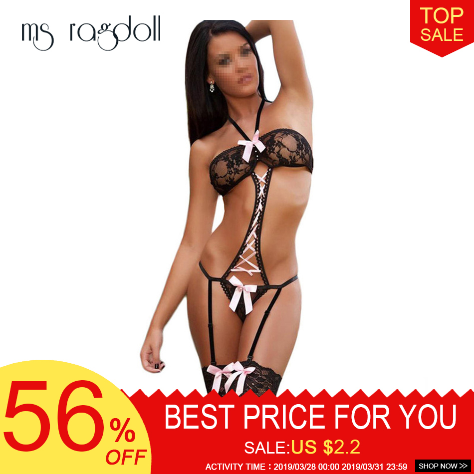 New Hot Sexy Underwear Women Sexy Lingerie Ladies Transparent Conjoined Dress Suit Costums Clothes For <font><b>Sex</b></font> <font><b>2018</b></font> Sexy Set image