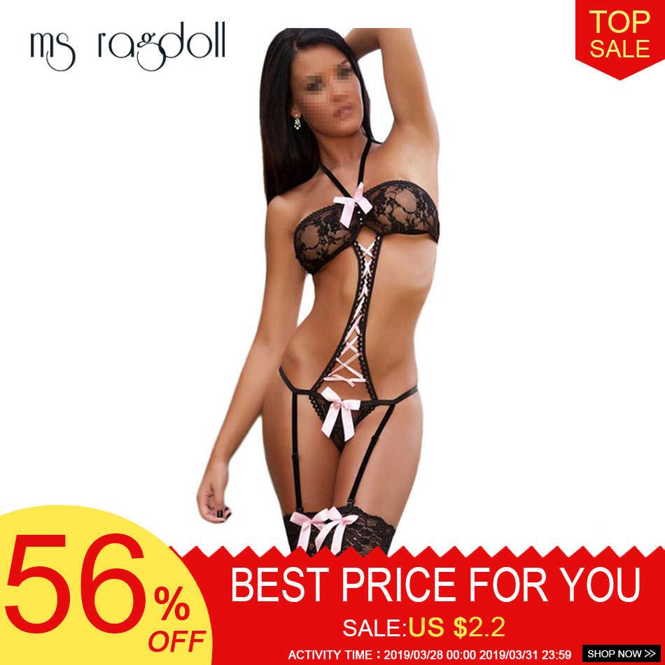Nieuwe Hot Sexy Ondergoed Vrouwen Sexy Lingerie Dames Transparante Siamese Rokkostuum Kostuums Kleding Voor Sex 2018 Sexy Set