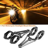 1Pair Motorcycle Motorbike Headlight Mount Bracket Fork Head Lamp Holder for Cafe Racer