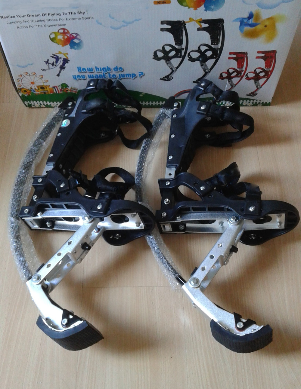 Skyrunner For People Weight 44lbs~88lbs/20kg~40kg Black Jumping Stilts/skyrunner/Jump Shoes/Flying Shoes