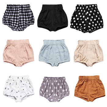 2019 Newborn Toddler Kids Baby Boy Girl Cotton Bottom Infant Bloomer Briefs Diaper Cover Panties 6-24M Kids Bloomers Baby Shorts