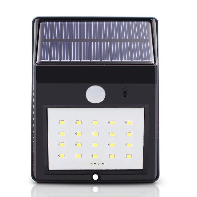 Dcoo Solar Lamp Outdoor 20 LEDs Motion Sensor Garden Decoration Lampada Luz Solar Waterproof Garden Led Solaire Street Light