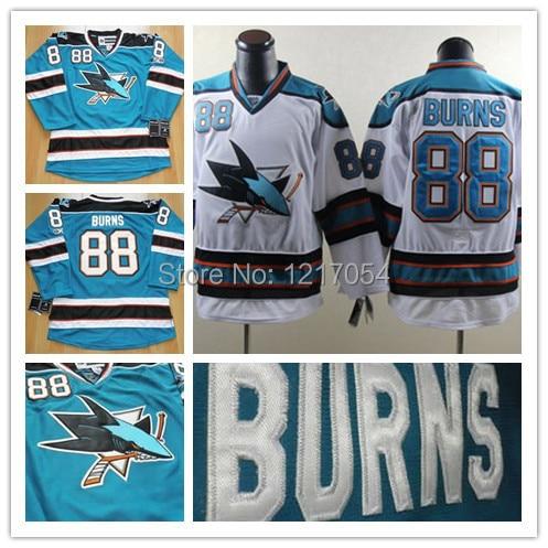quality design 14fa2 4f874 san jose sharks 88 brent burns blue jersey
