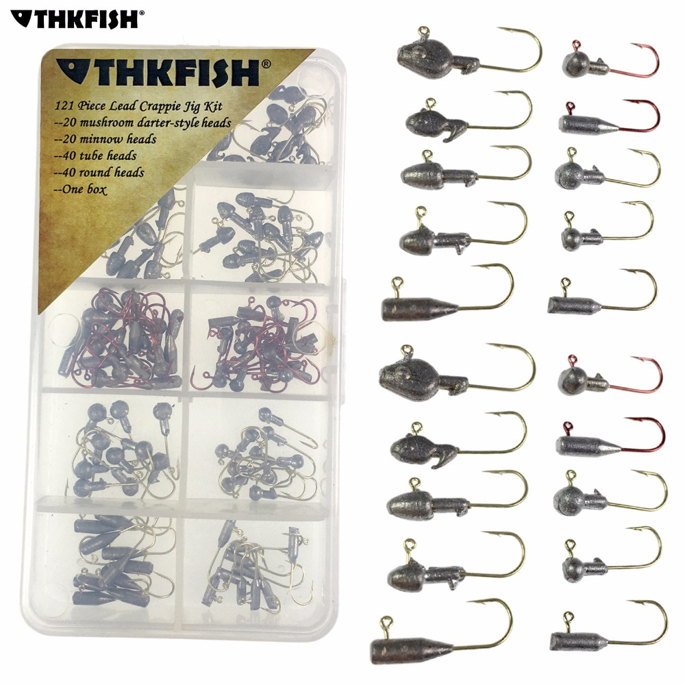 US $14 63 17% OFF|120Pcs 1g 3g Ice Fishing Jigs Carp Fishing Hooks  Stainless Steel Crappie Minnow Lead Jig Head Fishing Hook Bass Fishing  Tackle-in