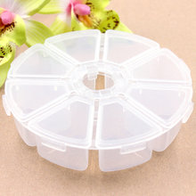 1Pc Round Storage Bottles & Jars Storage Box Office Organizer Travel Jewelry Fishing gear Electronic materials and accessories 1pcs transparent plum blossom travel vacations pills jewelry necklace pills electronic materials and accessories storage box