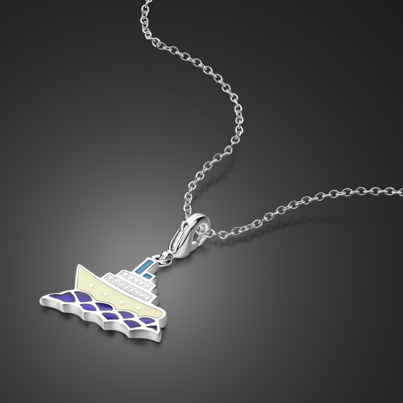 wholesale Fashion Solid 925 Silver Jewelry Chain Necklace Charm Pendant Gift