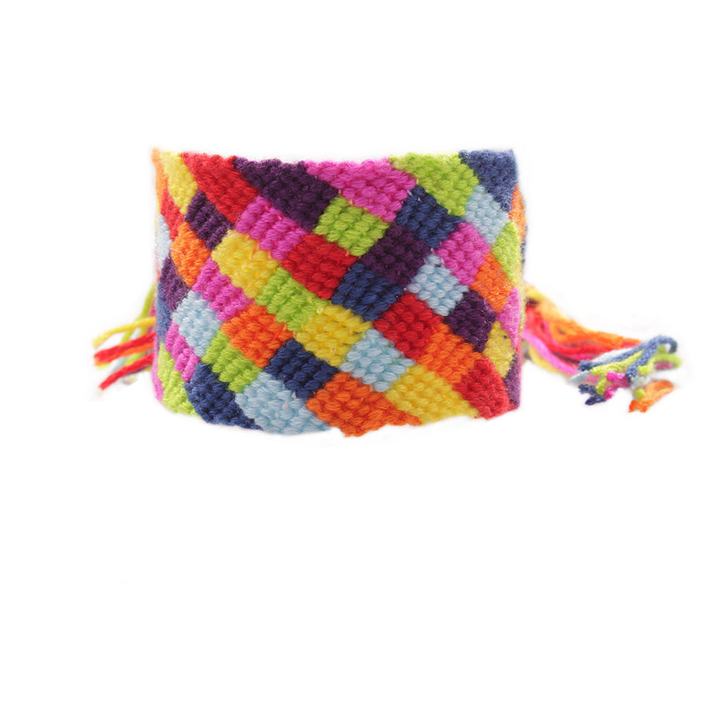 Delicate Woven Friendship Bracelet Multicolor Boho Hippie Brazilian Embroidery Thread Braided Wayuu Woman Man Present