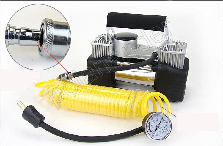 air pump 12V 150PSI car pump Vehicle mounted pump Tire inflation Double cylinder pump