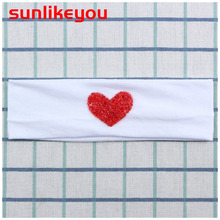 Sunlikeyou Rhinestone Love Headband For Girls Cotton Fabric Elastic Kid Baby Turban Newborn Hair Accessories