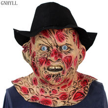Cosplay Freddy Krueger Maschera di Halloween della Mascherina Del Partito Maschera Per Adulti Horror Spaventoso Costume Fancy Dress Spaventoso Maschera di Halloween Di Natale(China)