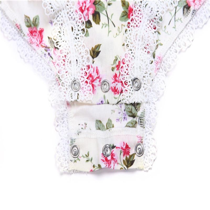 Summer Infant Baby Girl Romper Traje Floral Niñas Mamelucos Burbujas - Ropa de bebé - foto 2