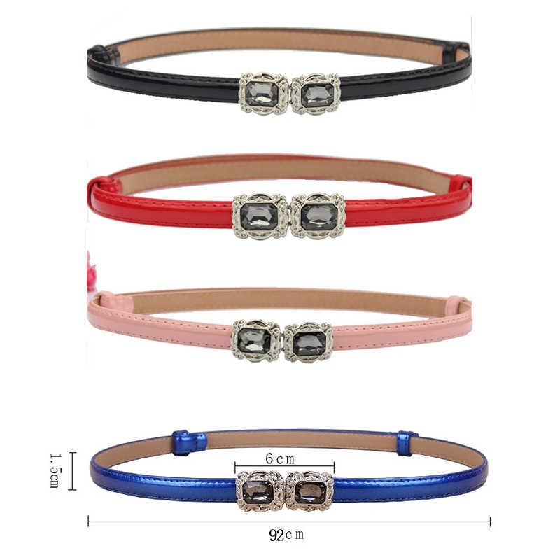 2019 de moda Coreana de Damas Slim cinturón de flores de agua de colores de caramelo harajuku cinturones para mujer