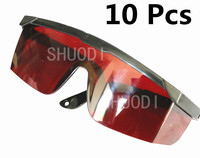10 Pcs Dental with Adjustable Handle Protective Glasses For Curing Light Teeth Whitening Lamp Red Color