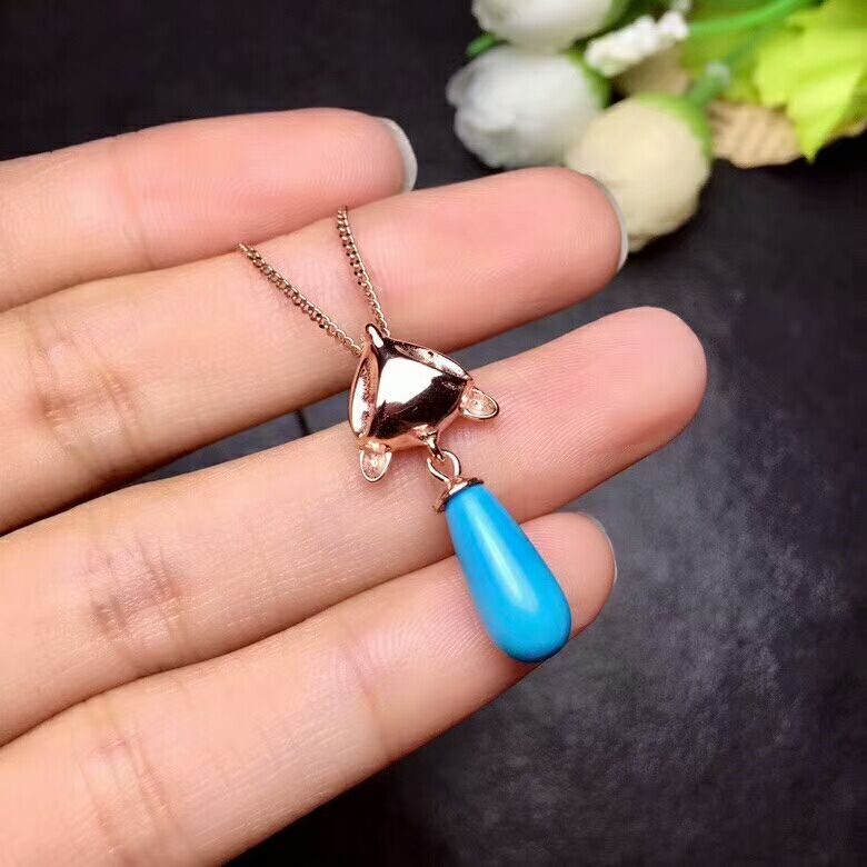 [MeiBaPJ]Real Natural Blue Turquoise Fox Pendant Necklace with Certificate 925 Pure Silver Fine Jewelry for Women xzl 3087 1 replacement elecric fuel pump for fox silver blue