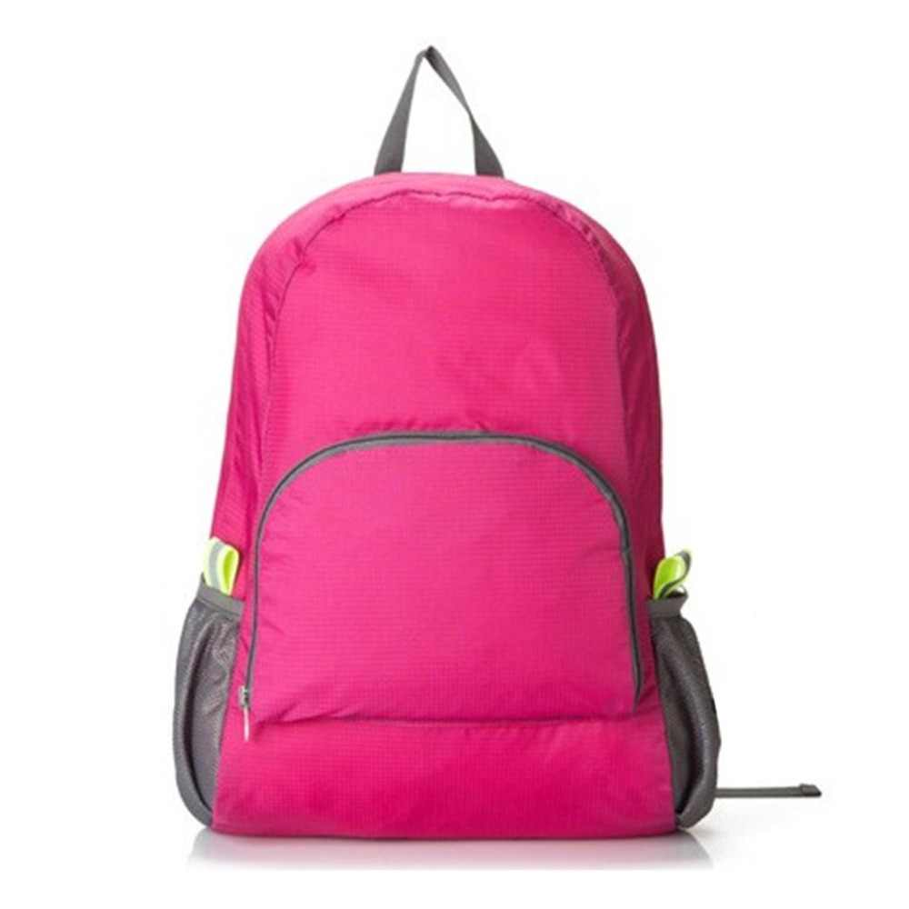 Походная сумка рюкзак легкий складной водонепроницаемый нейлон для женщин и мужчин повседневный рюкзак для кожи путешествия Спорт на открытом воздухе кемпинг