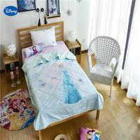 אור כחול דיסני קפוא אלזה ילדי כותנה מצעי שמיכת כיסוי שמיכת הקיץ של בנות עיצוב חדר השינה של ילד 150*200 ס