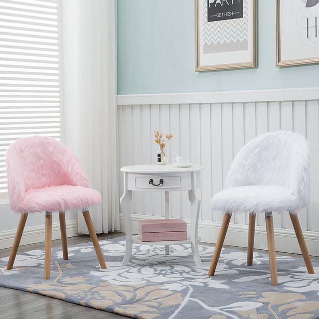 Delicieux Nordic Creative Makeup Chair Girl Chair Bedroom Princess Pink Cute Stool  Beauty Makeup Chair