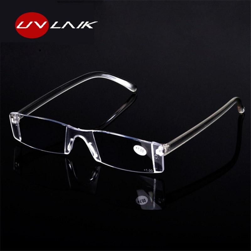 UVLAIK Transparent Optical Reading Glasses Men Women High Quality Glasses Integrated Clear Lenses Eyeglasses For Reader