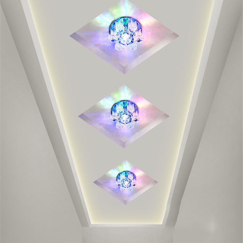 Send Recessed Lighting For Modern Interiors: 5w LED Crystal Lamp Ceiling Recessed Light Fixture Modern
