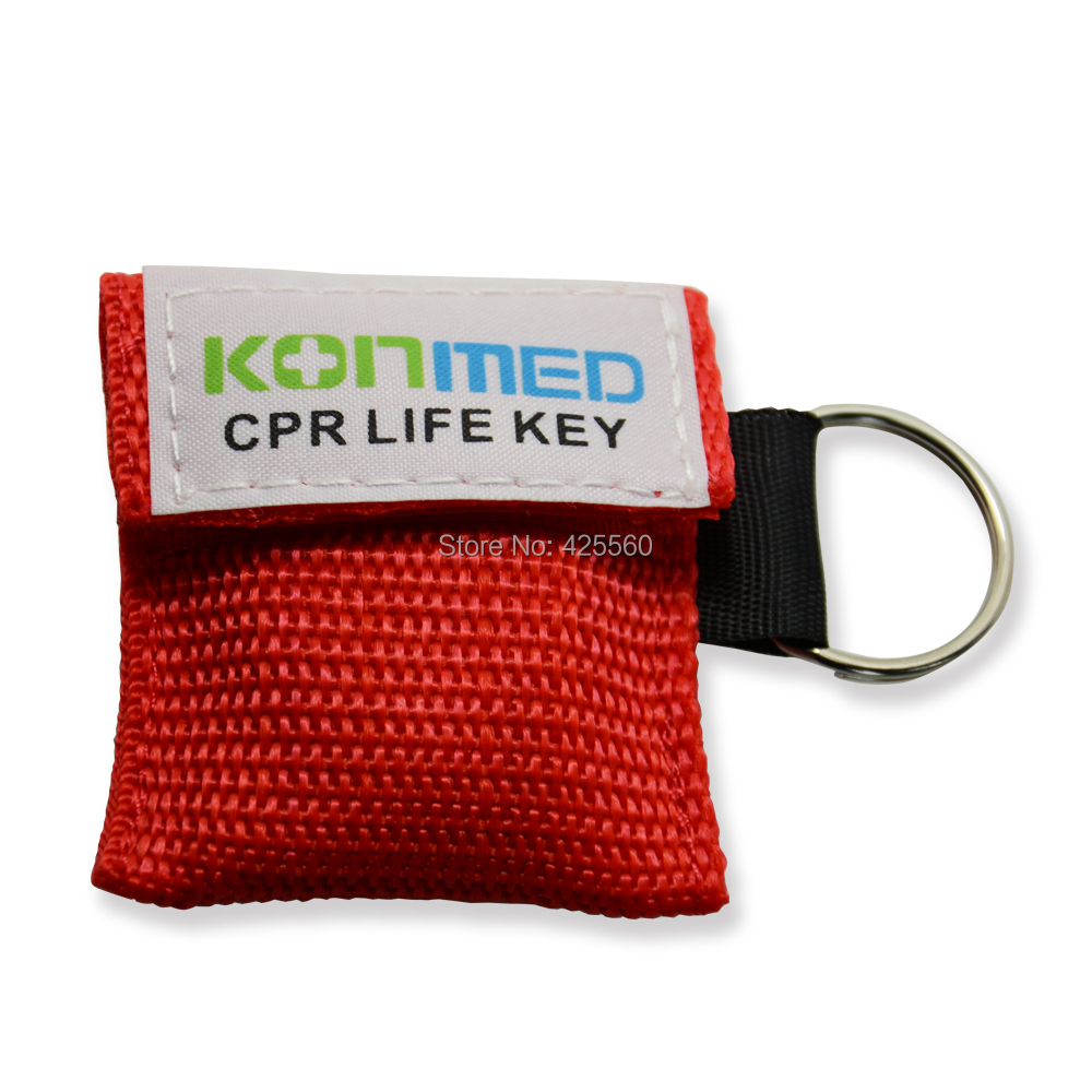 1000 Pieces Customized CPR Protect Masks Face Shields With Keying Chian For First Aid Training