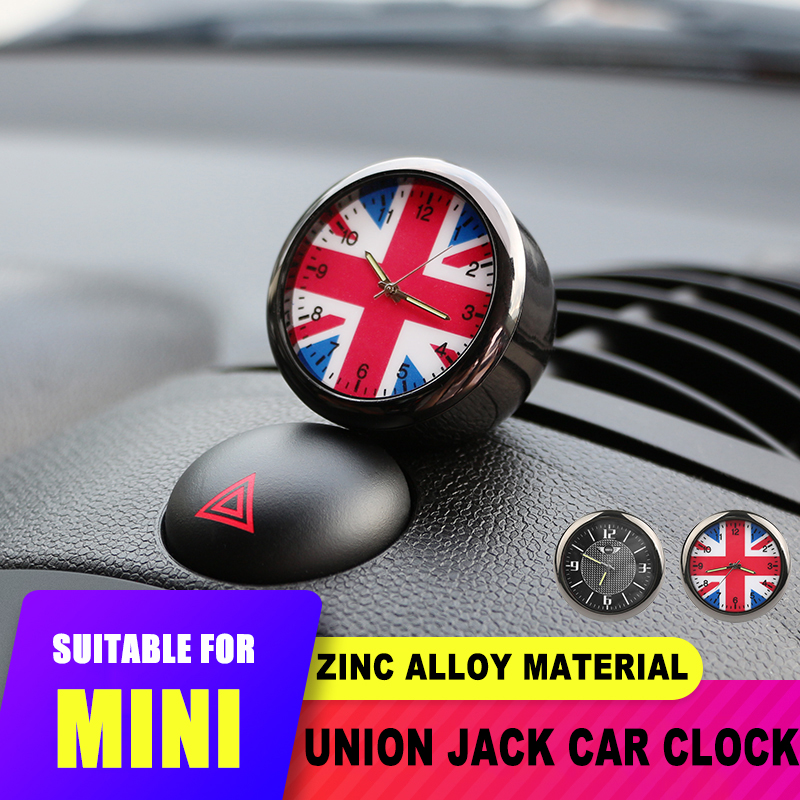 Car Interior Union Jack Air Outlet Clock Decoration for Mini Cooper JCW S F55 56 F60 R55 R56 R60 Countryman for Honda Civic 10th