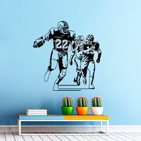 Football Player Wall Decal Vinyl Sticker Sport Wall Decor Home Interior Design Art Mural Boy Room