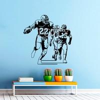 Football Player Wall Decal Vinyl Sticker Sport Wall Decor Home Interior Design Art Mural Boy Room