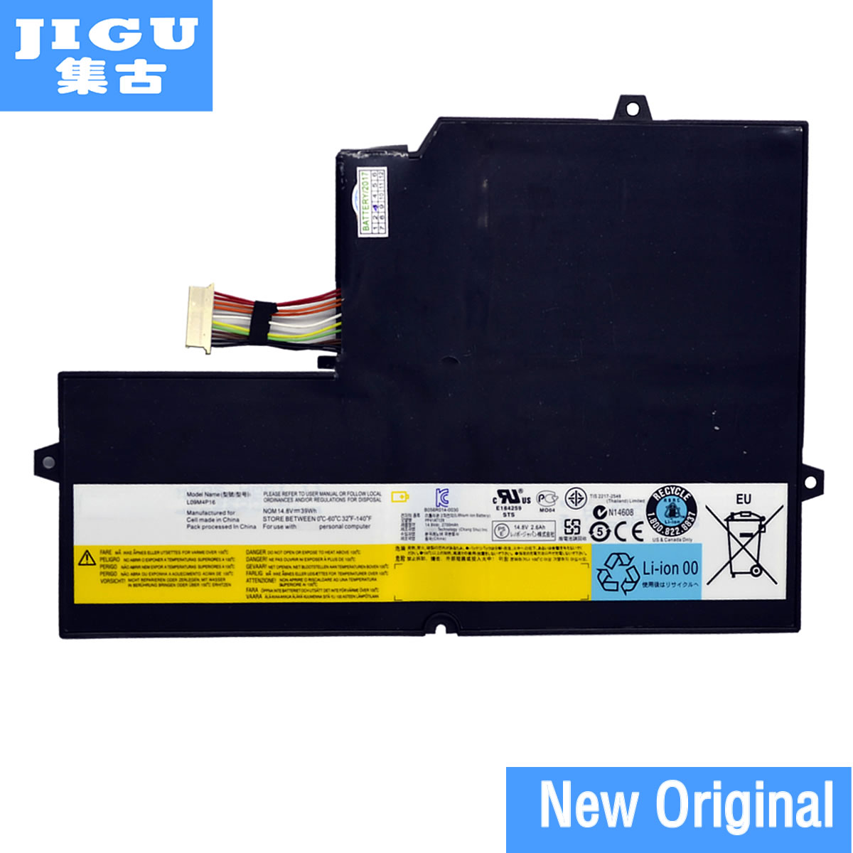 JIGU 57Y6601 L09M4P16 KB3072 Original laptop Battery For Lenovo for IdeaPad U260 14.8V 39WH U260 BATTERIES laptop batteries for lenovo ideapad u350 20028 l09n8p01 l09c4p1 14 8v 8 cell