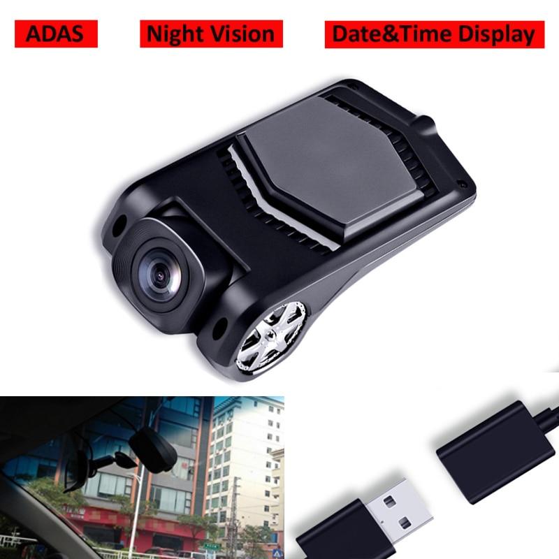 Melhor qualidade usb câmera frontal gravador de condução dvr visão noturna adas para android sistema rádio do carro multimídia player grande angular