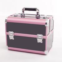 New Fashion Professional Large Capacity Makeup Organizer Cosmetic Box Top Quality Portable Storage Jewelry Case Bolso
