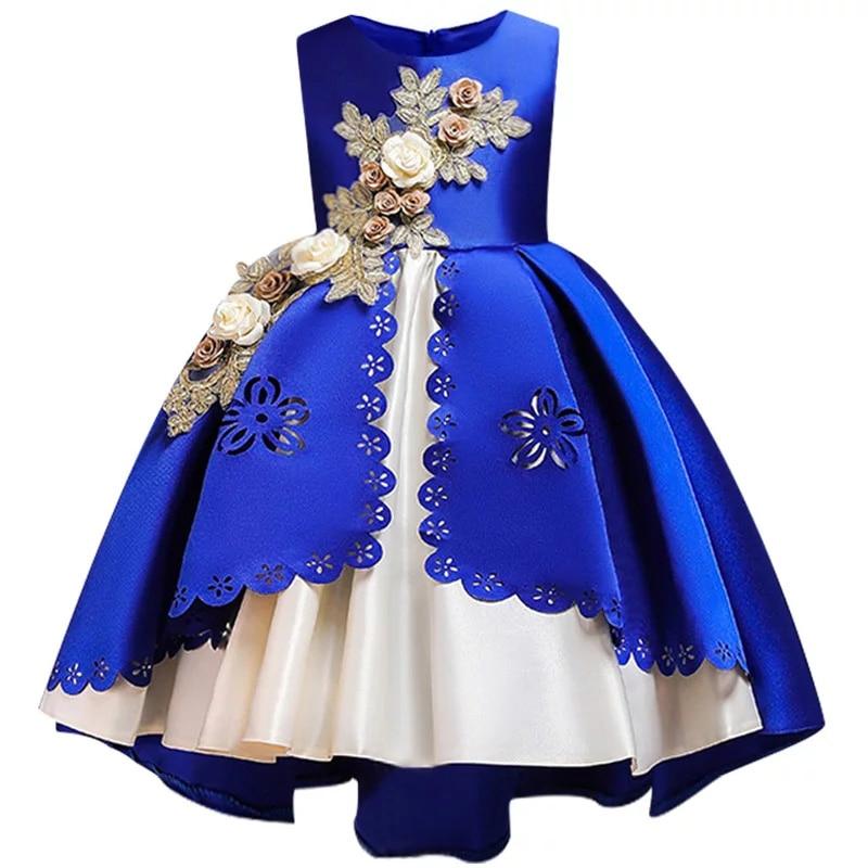 HTB1AmQdX8r0gK0jSZFnq6zRRXXaB Kids Dresses For Girls Elegant Princess Dress Christmas Children Evening Party Dress Flower Girl Wedding Gown vestido infantil
