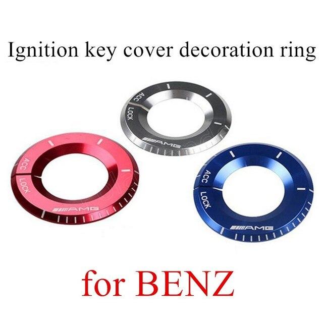 Новый приходить Для B-ENZ 3 цветов optioanl Зажигания Брелок ключа зажигания крышка стайлинга Автомобилей